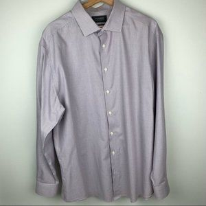 Denver Hayes Long Sleeve Never-Iron Button Up XL